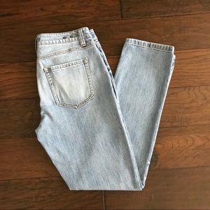 CAbi Light Wash High Straight Jean